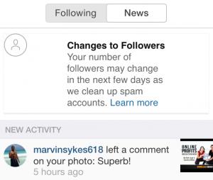 intagram spam accounts